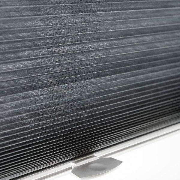 Plisségardiner i sort
